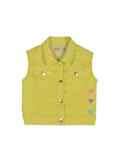Silversun Kids Kız Çocuk Kalp Işlemeli Kolsuz Kapşonlu Yelek Yc 216040 Sarı